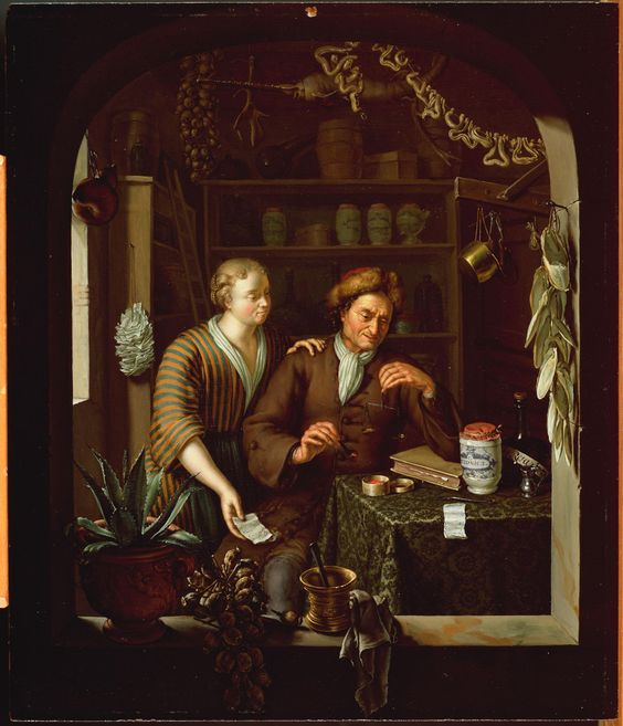 The Apothecary by Frans Van Mieris 1714